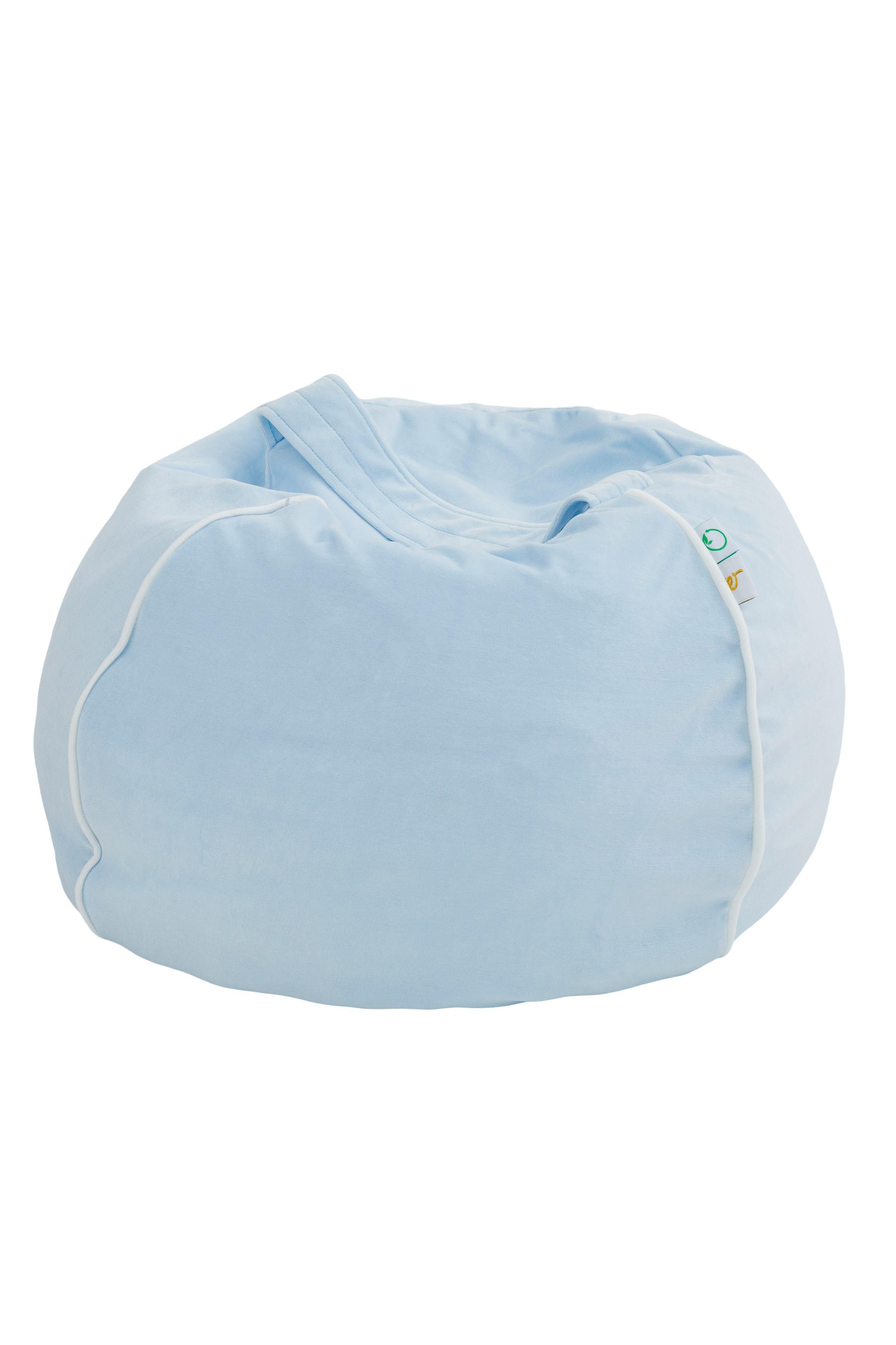 Samt Sitzsack Bubble hellblau 70x35 cm