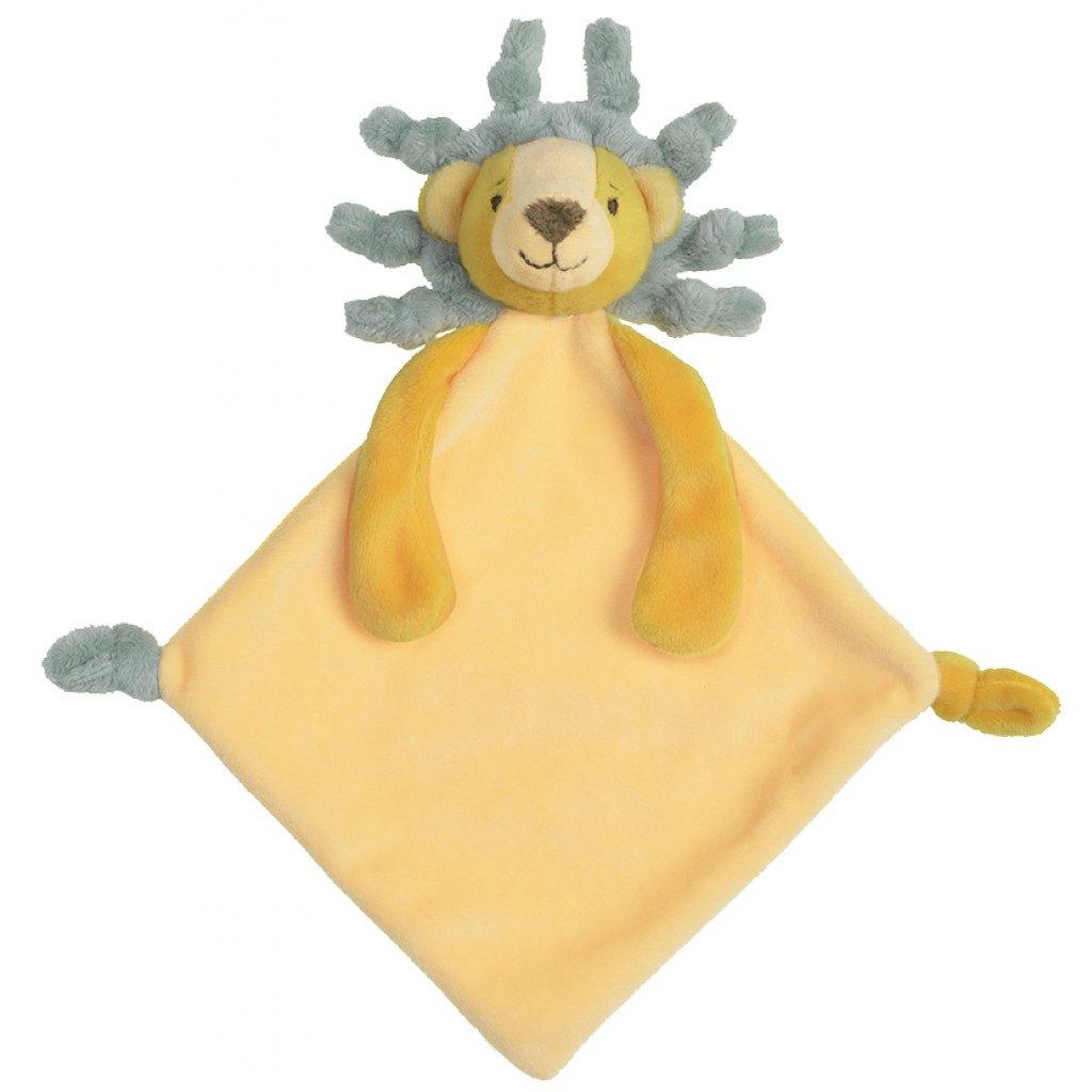 Kuscheltuch Schmusetuch Löwe gelb 26 cm