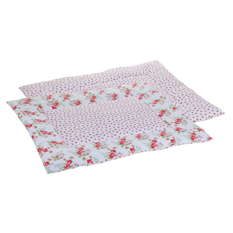 Laufgittereinlage Krabbeldecke Pink Roses weiß 75x95 cm