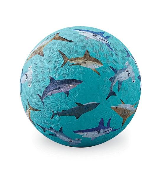 Naturkautschuk Ball Haifische hellblau Ø 13 cm