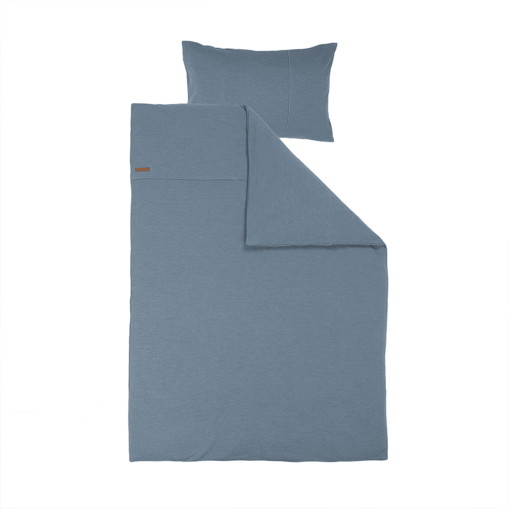 Kinderbettwäsche Pure blau (Gr. 100x140 cm + 40x60 cm)
