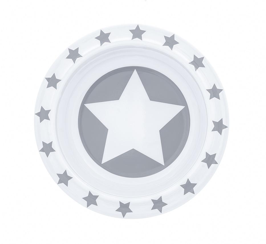 Schale Melamin STARS grau