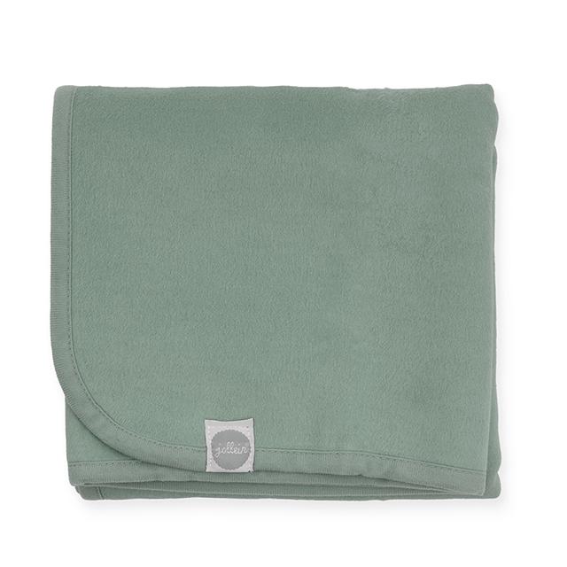 Kinderdecke Basic stonegreen (Gr. 100x150 cm)