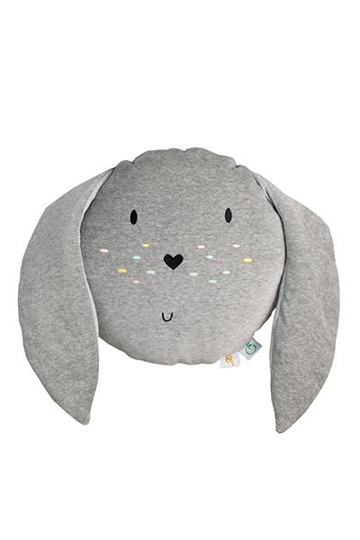 Wigiwama Samt Spielkissen Hase grau 35 cm