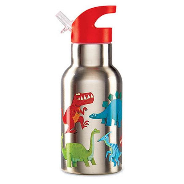Isolierflasche Thermosflasche Trinkflasche aus Edelstahl Dinosaurier rot
