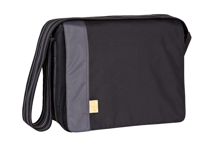 Wickeltasche Casual Messenger Bag solid black
