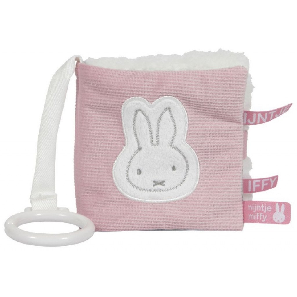 Miffy Hase Cord Activity Stoffbuch rosa