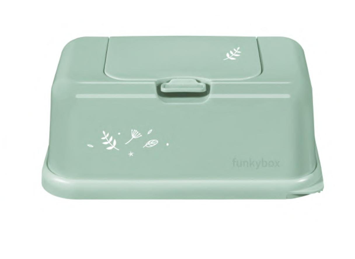 Feuchttücher Aufbewahrungsbox Blätter mint