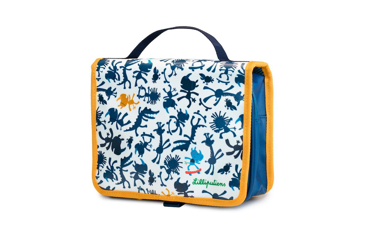 Kulturtasche Nashorn Marius weiß blau