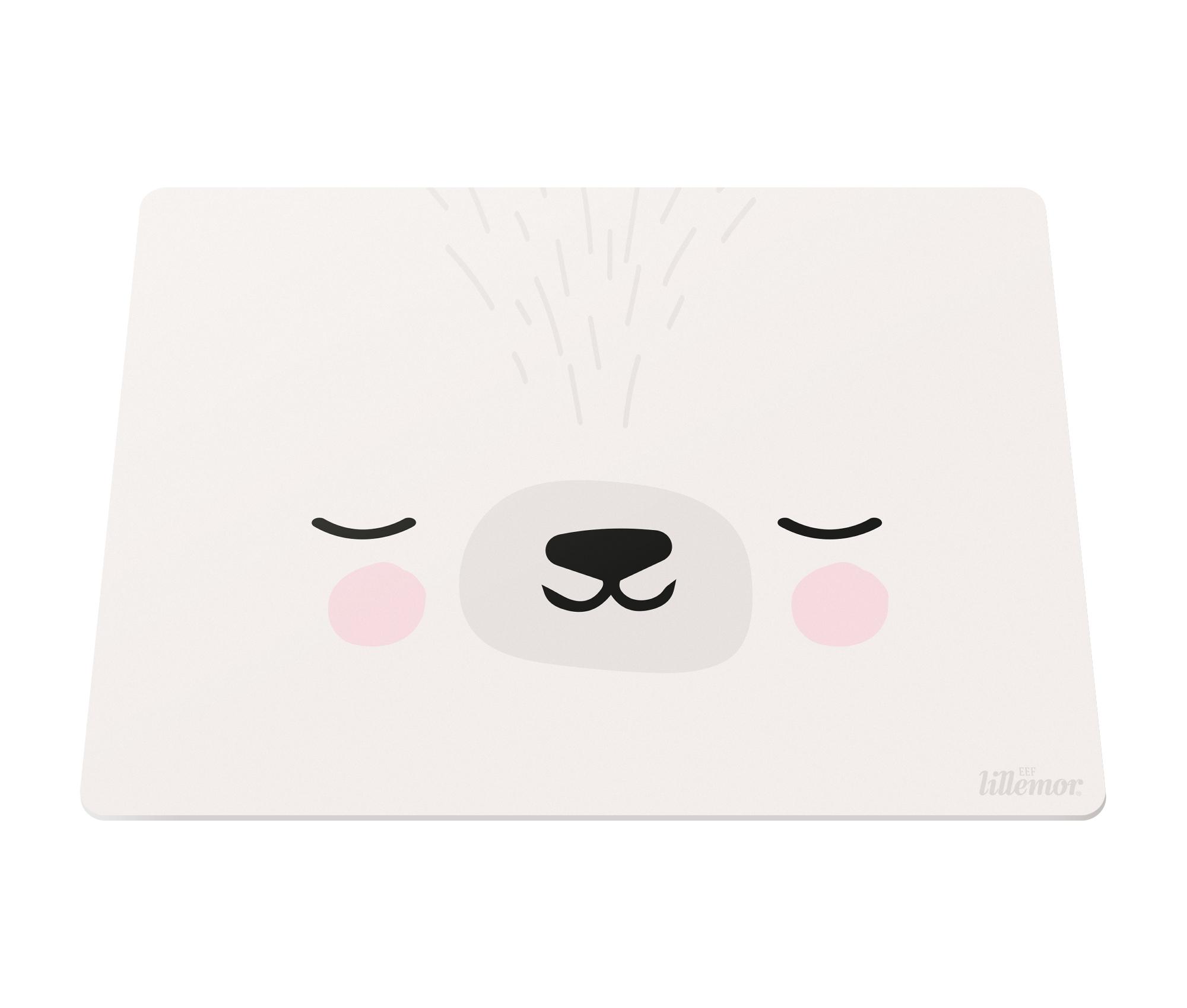 Silikon Platzset Tischset Unterlage Zirkus Hase weiß