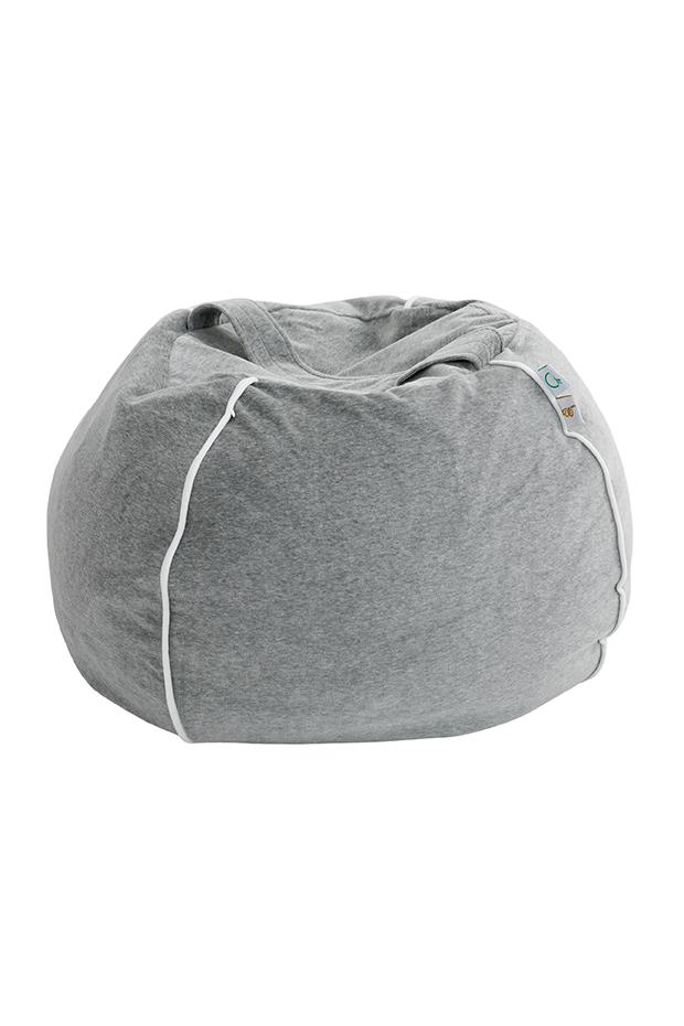 Samt Sitzsack Bubble grau 70x35 cm