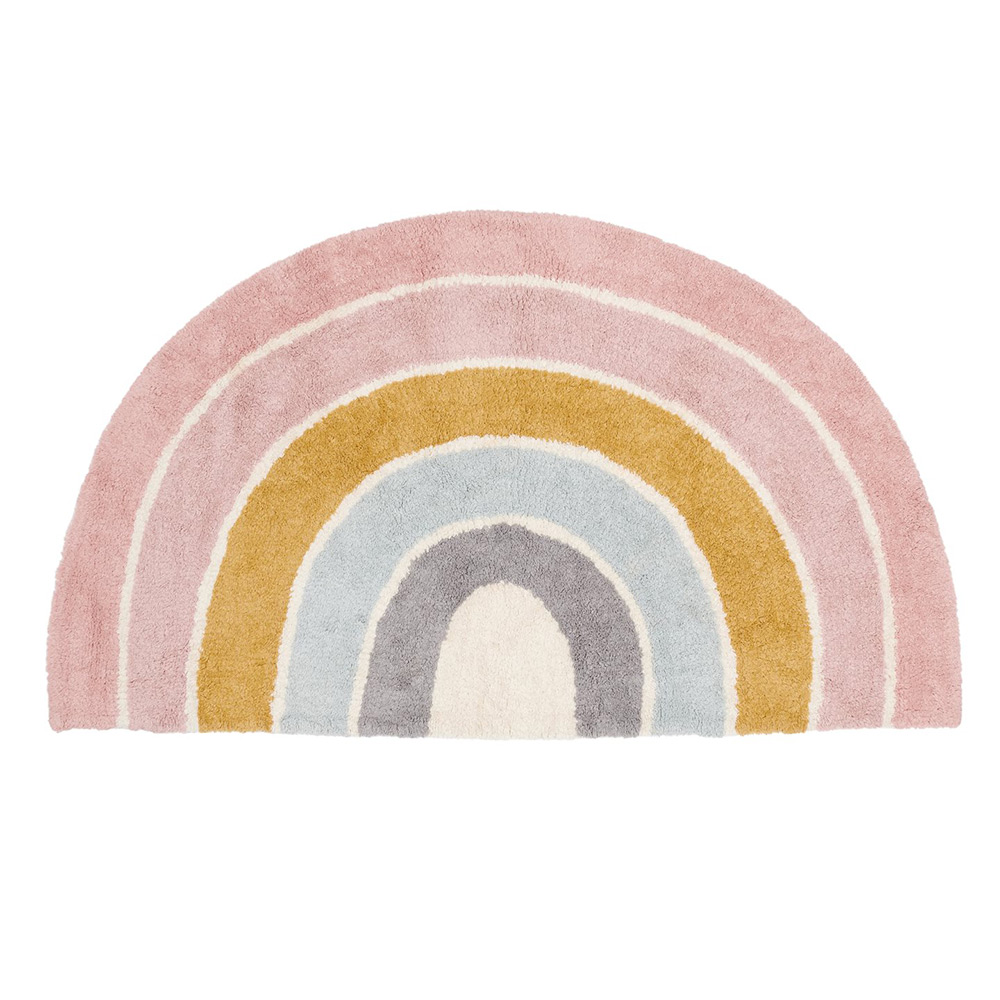 Teppich in Regenbogenform Pure rosa (Gr. 80x130 cm)