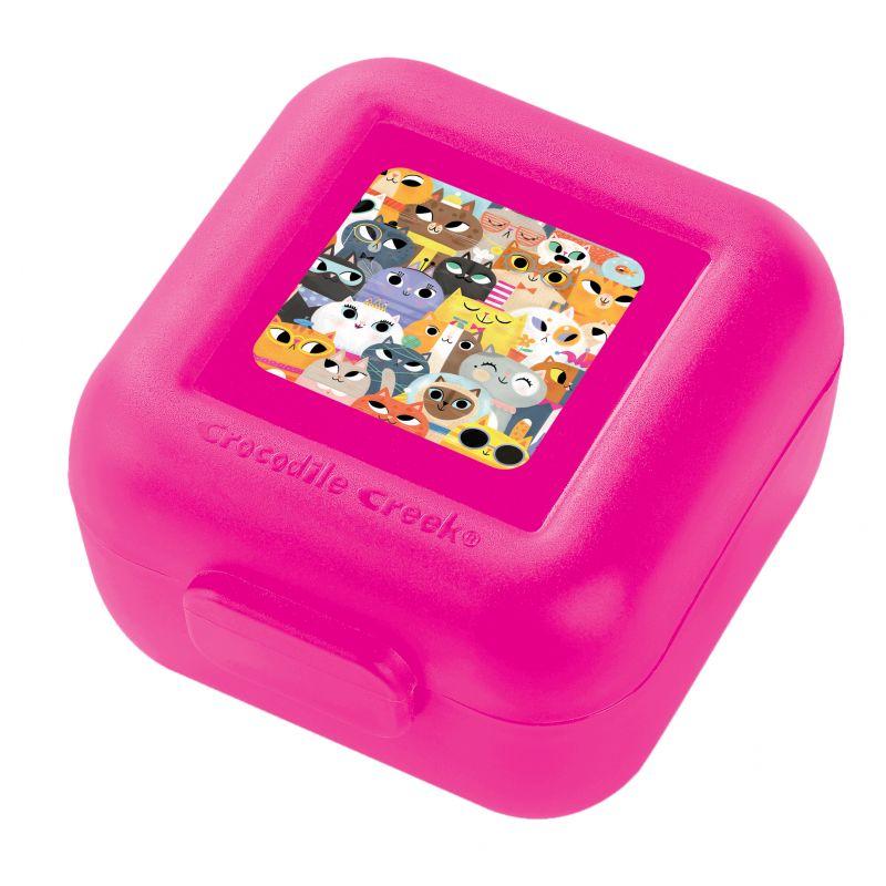 Snackbox 2er Katzen pink