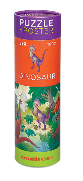 Puzzle + Poster Dinosaurier 100 Teile