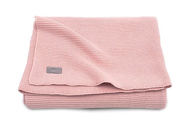 Babydecke Strickdecke Basic knit blush rosa (Gr. 75x100 cm)