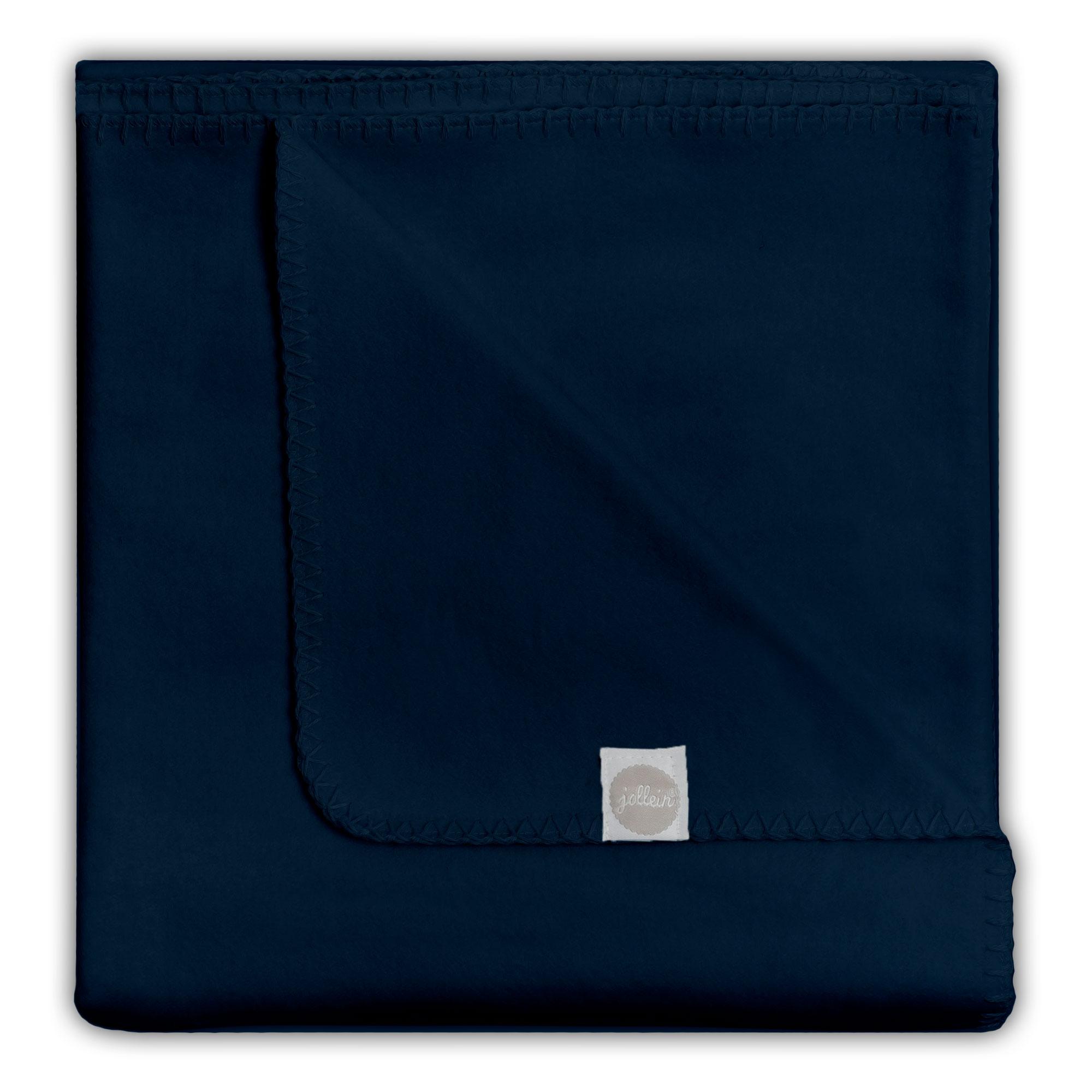 Decke Uni marine blau 75x100 cm