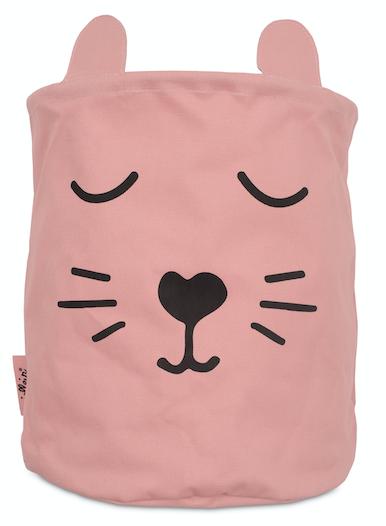 Korb/Kiste/Box zur Aufbewahrung Animal Club Bär rosa