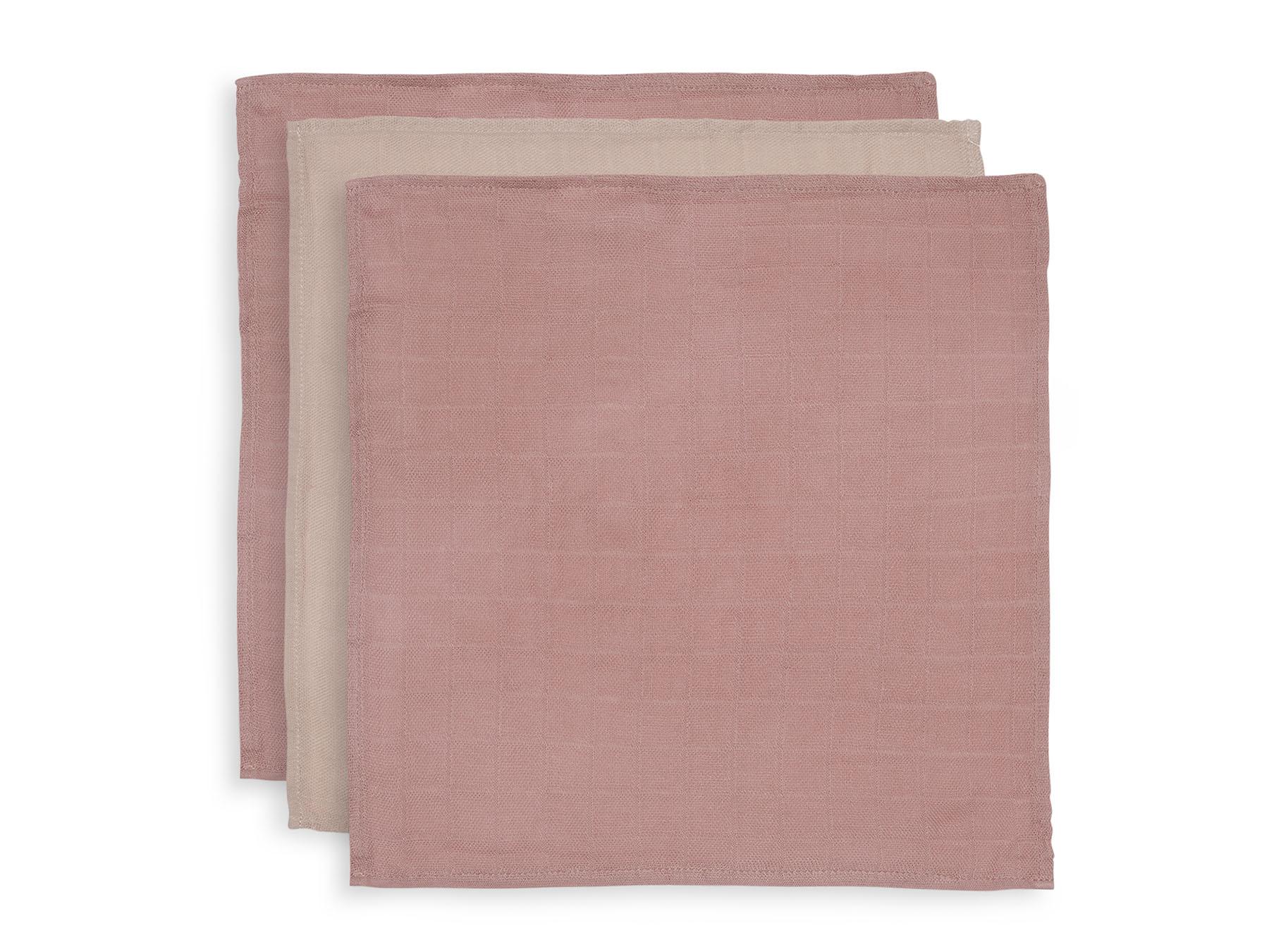 Spucktücher Mundtücher Bambus 3er Set rosa (Gr. 31x31 cm)