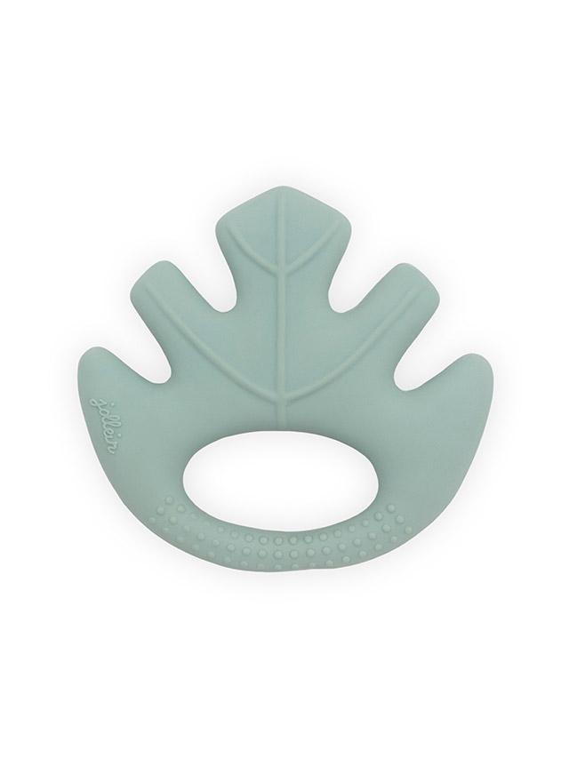 Beißring aus Naturkautschuk Blatt grün