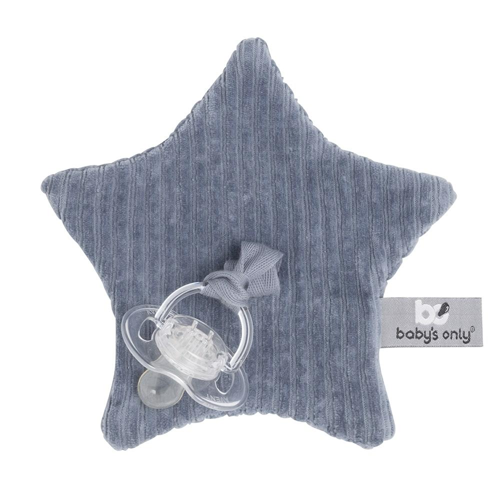 Schnullertuch Stern Cord Sense blau