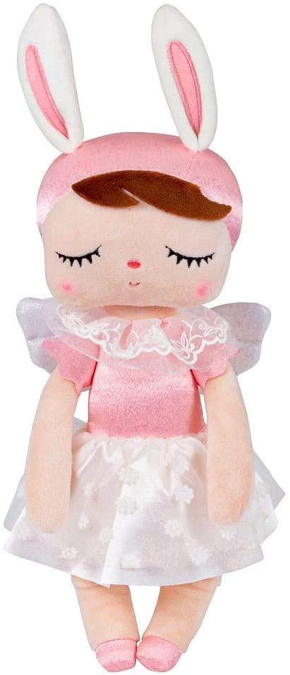 Stoffpuppe Schlummerpuppe Angela Engelchen rosa weiß 35 cm