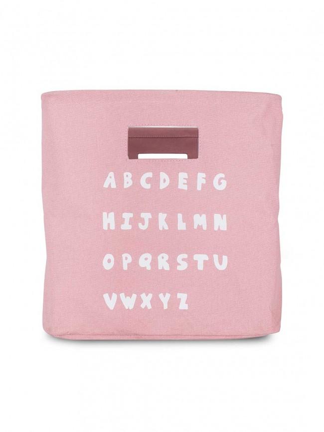 Korb / Kiste / Box zur Aufbewahrung ABC rosa