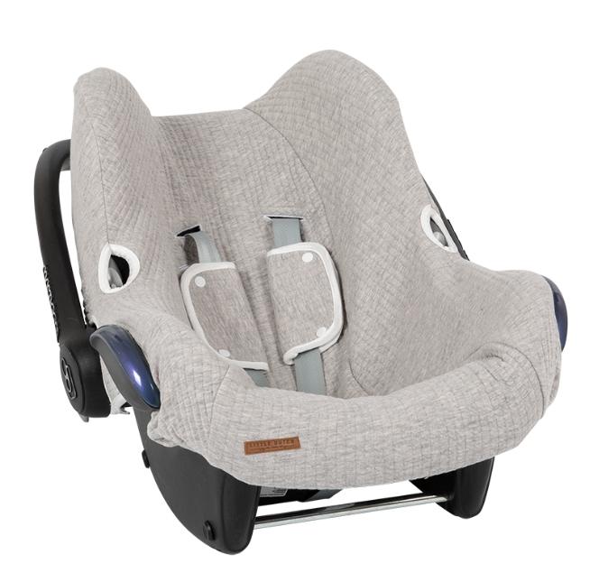Bezug für Babyschale Pure grau