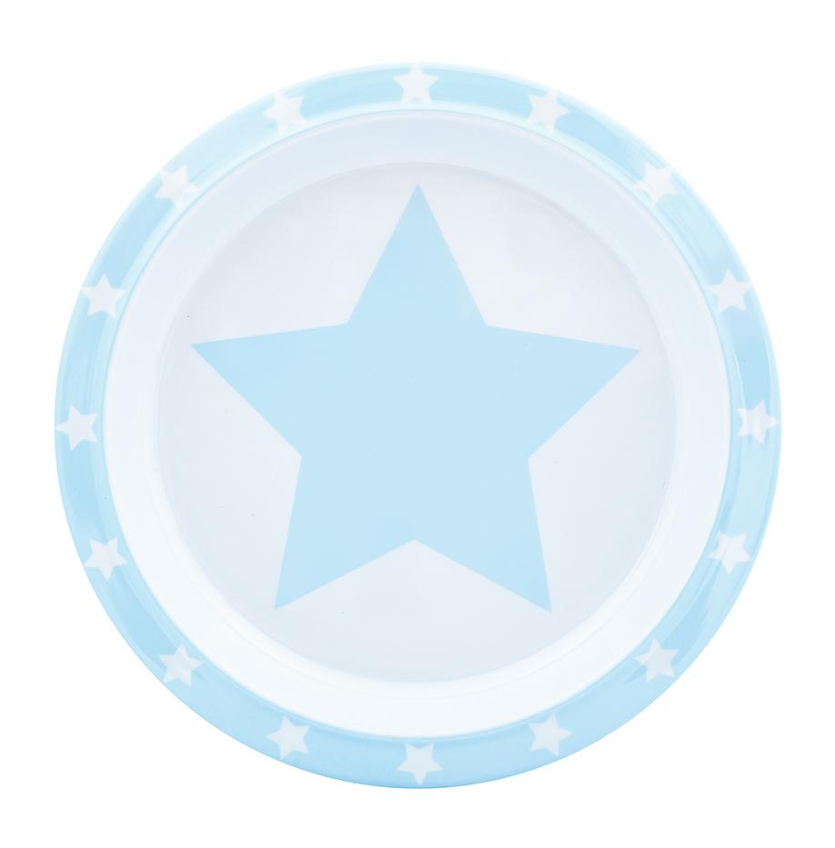 Teller Melamin STARS hellblau