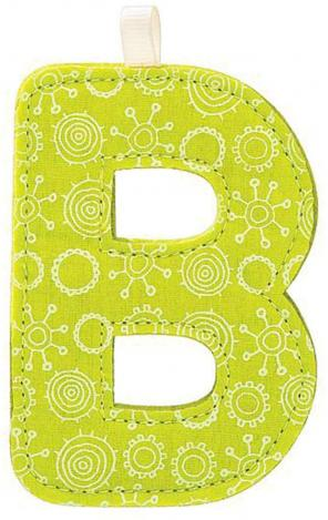 "Stoffbuchstabe ""B"" grün"