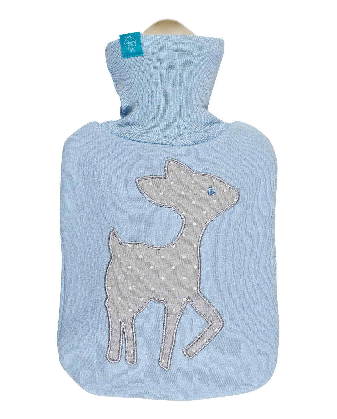 Wärmflasche hellblau mit LELA