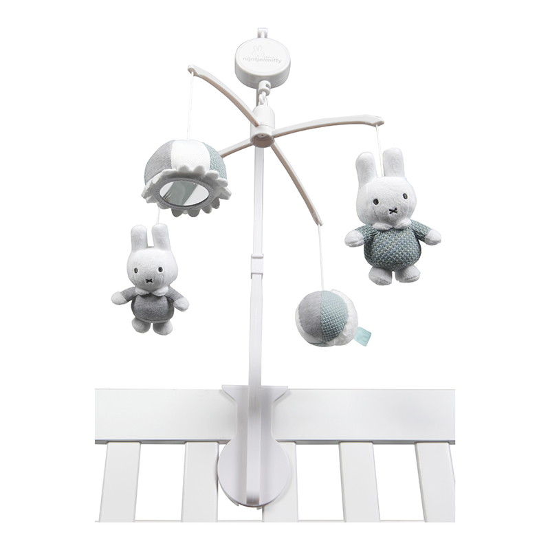Miffy Hase Strick Musik Mobile stonegreen