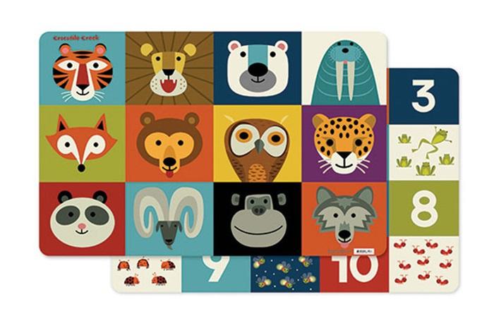 Platzset Tischset Tiere 28 x 33,5 cm