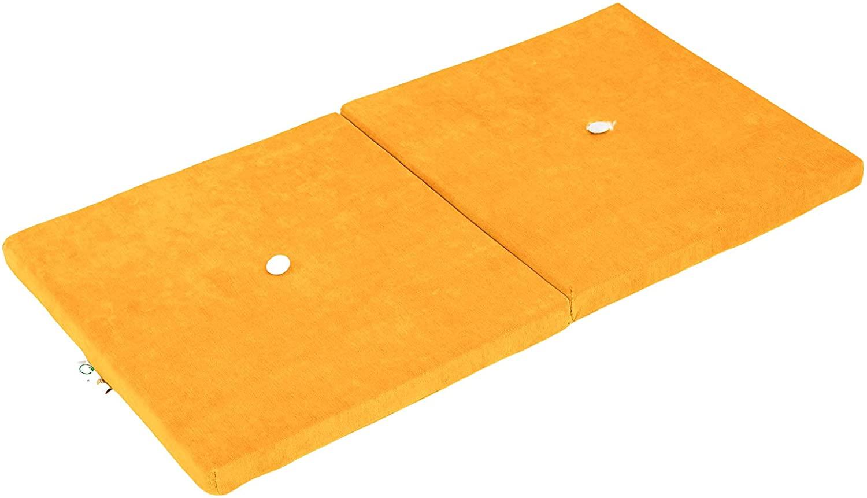Samt Sitzkissen faltbare Spielmatte gelb