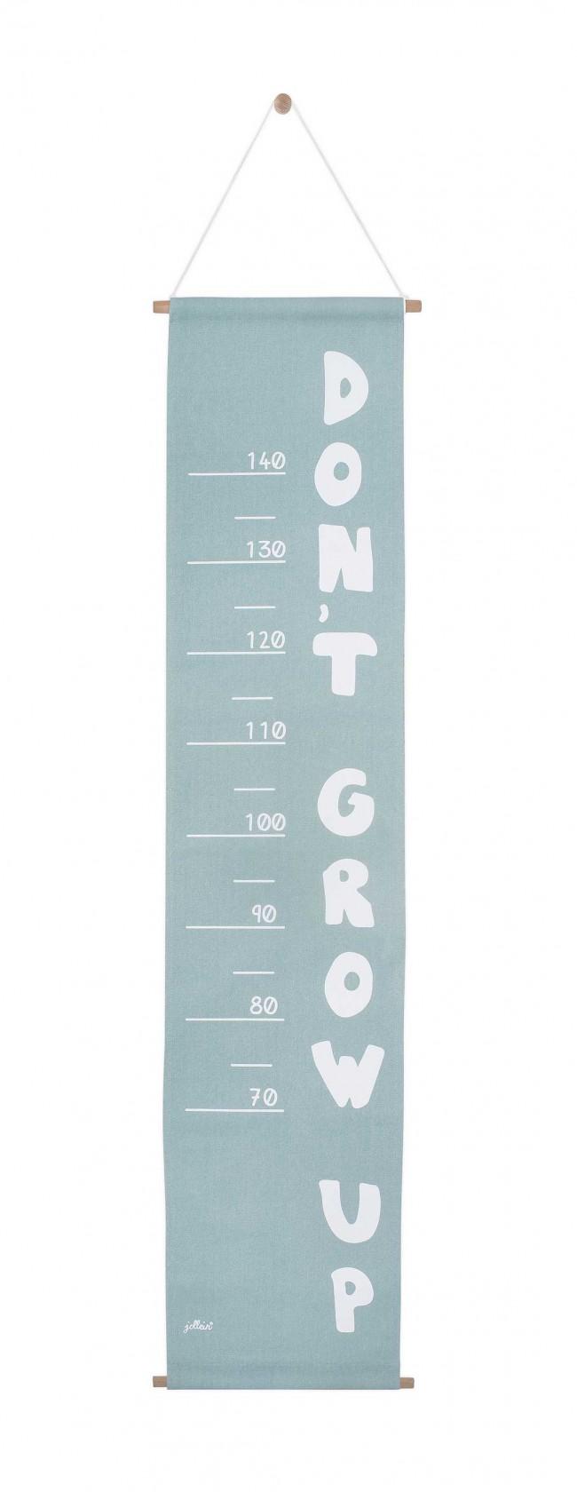 Messlatte Stoff ABC stonegreen 70 - 140 cm