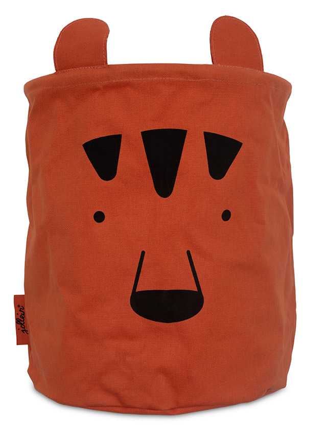 Korb/Kiste/Box zur Aufbewahrung Animal Club Bär rostrot orange