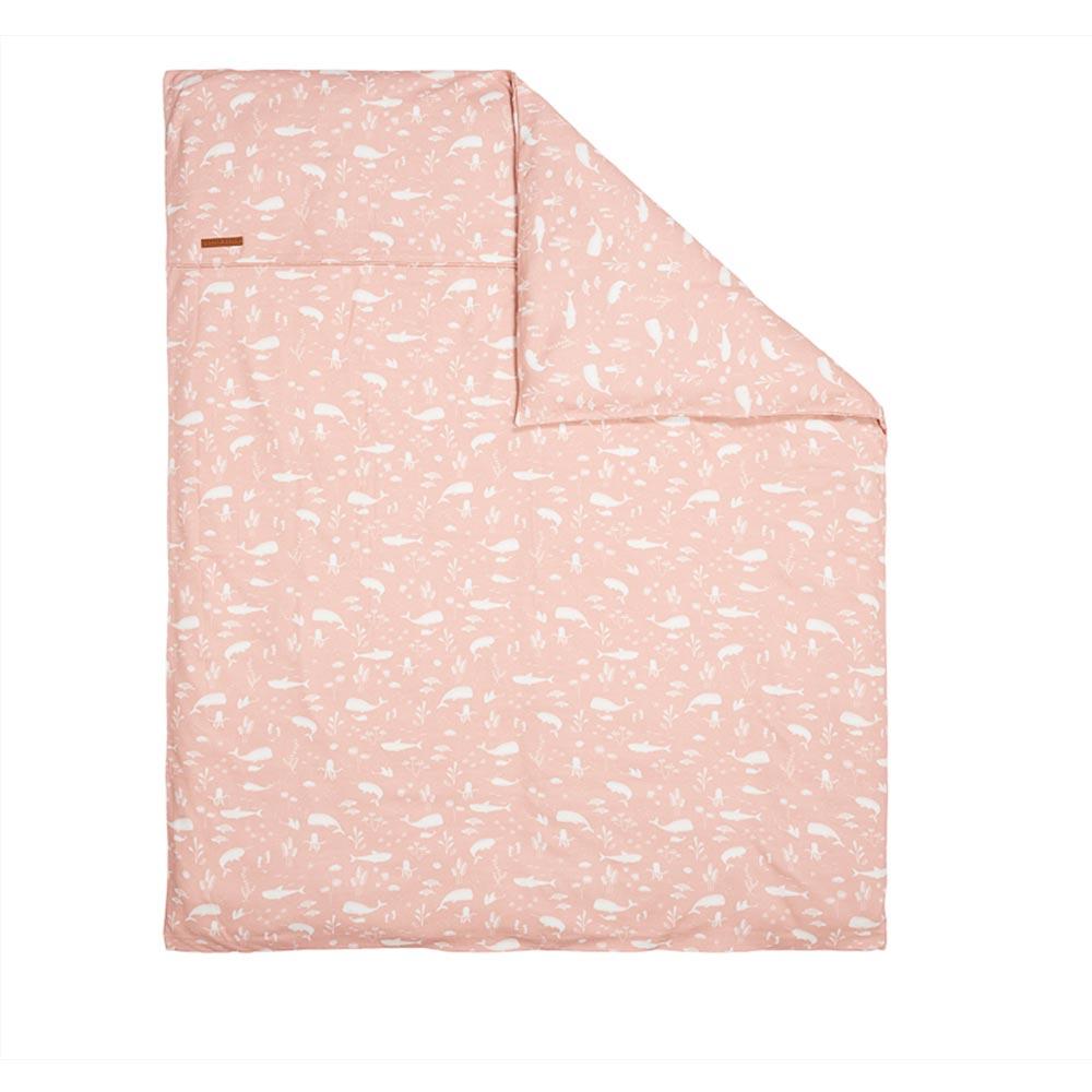 Kinderwagen Kissenbezug Ocean pink (Gr. 80x80 cm)