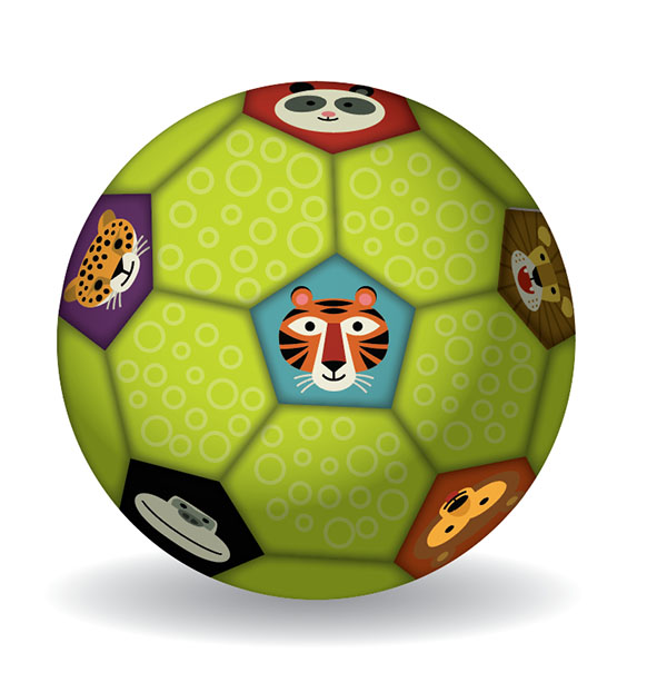 Fußball Tiere grün Ø 14 cm