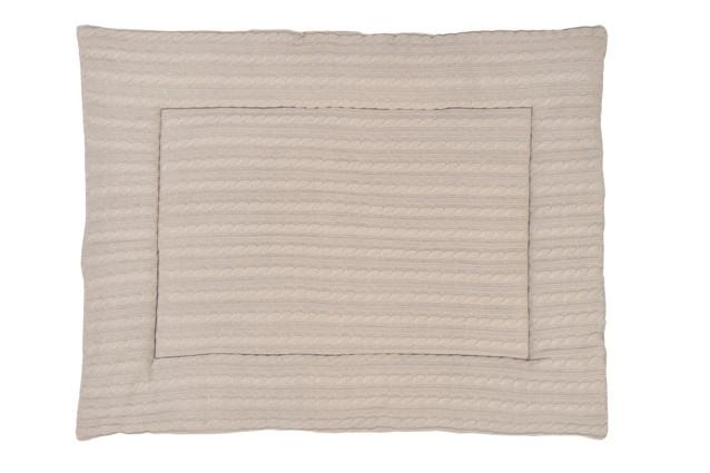 Laufgittereinlage Krabbeldecke Zopfstrick sandbeige (80x100 cm)