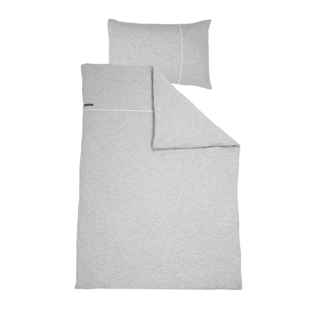 Kinderbettwäsche Pure grau (Gr. 100x140 cm + 40x60 cm)