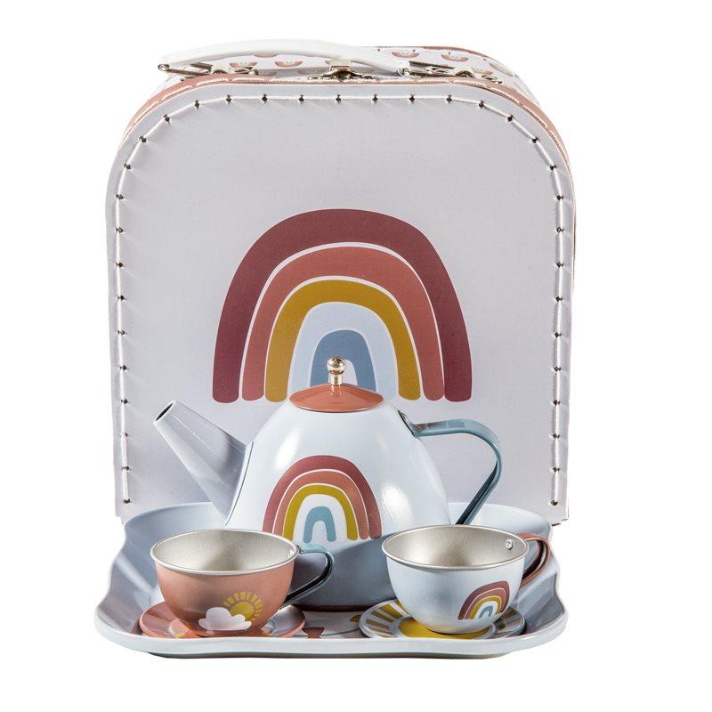 Tee Set Regenbogen mit Koffer