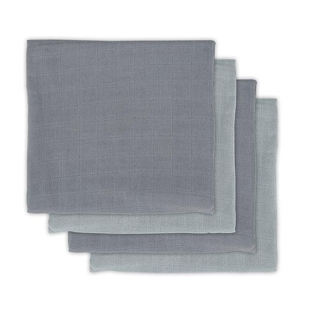Mulltücher Bambus 4er Set grau (Gr. 70x70 cm)