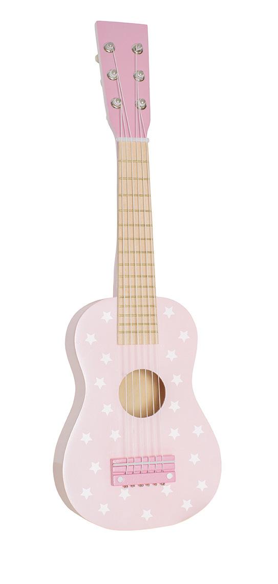 Kindergitarre aus Holz rosa