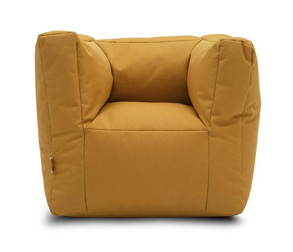 Kindersessel Sitzsack senfgelb ocker