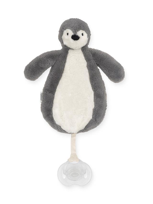 Schnullertuch Pinguin grau