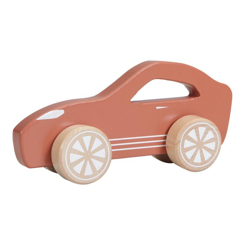 Holzauto Sportwagen orange