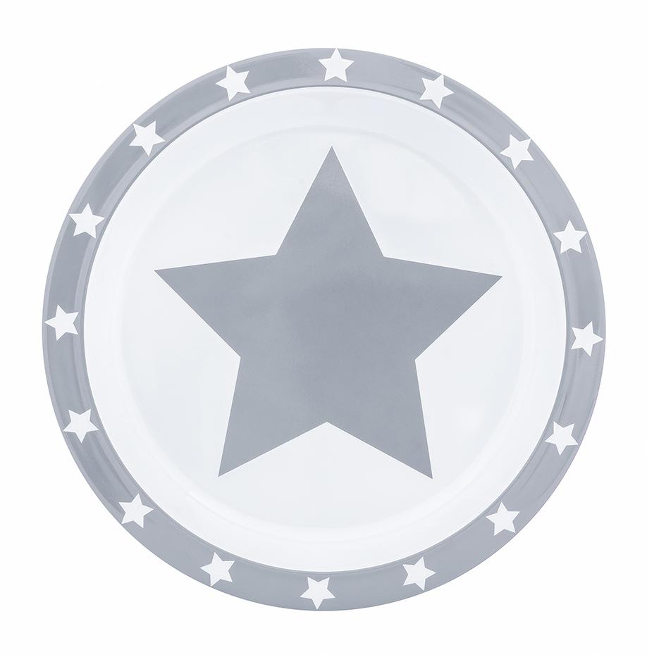 Teller Melamin STARS grau