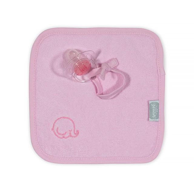 Jollein Schnullertuch Elefant rosa