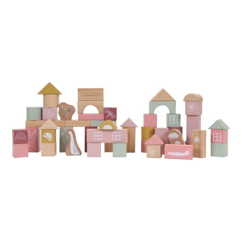 Holz Bauklötze 50 Stück Kleine Gans rosa
