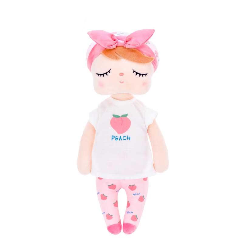 Stoffpuppe Schlummerpuppe Angela Pfirsich Pyjama rosa 35 cm