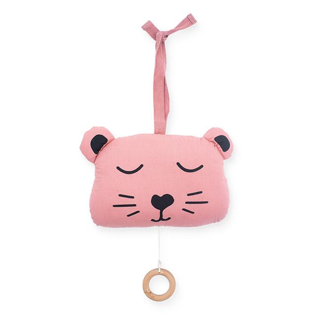 Jollein Spieluhr Animal Club Bär rosa